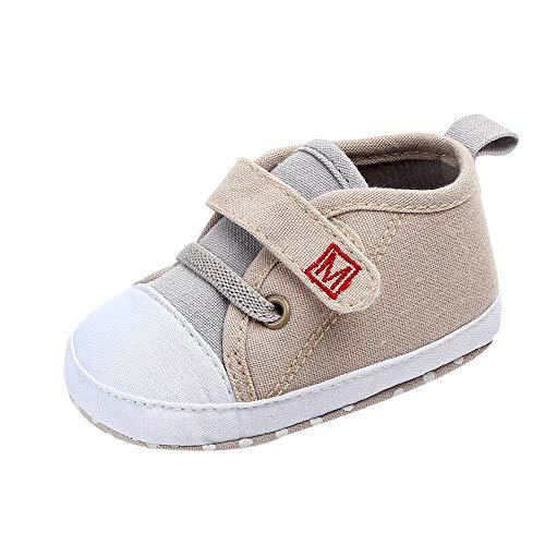 OSYARD Babyschuhe Lauflernschuhe Sneaker Sportschuhe rutschfest Krabbelschuhe mit Klettverschluss für Baby Jungen Mädchen Gr.11-13