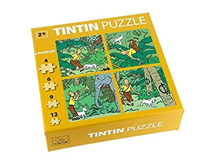 Puzzle Tintin jungle - Neuf - Moulinsart - Hergé.