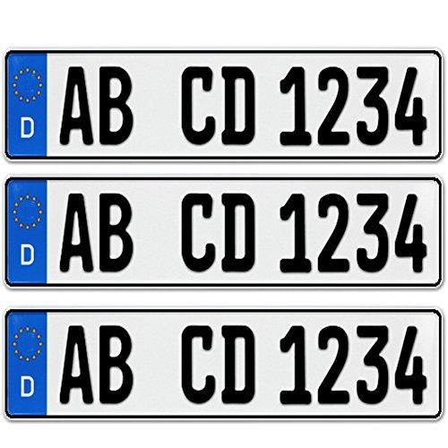 3-x-EU-KFZ-Nummernschilder-Autoschilder-Kennzeichen-ALLE-AUTOMARKEN-mit-individueller-Prgung-nach-Ihren-Vorgaben-KFZ-Schein-Schutzhlle