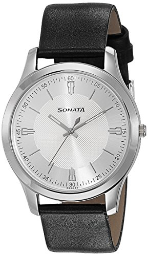Sonata Analog Silver Dial Men's Watch-77063SL01J image