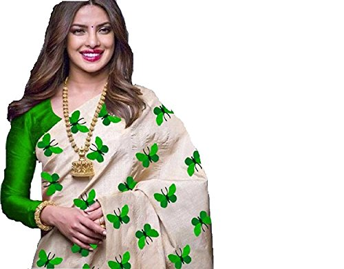 PRMUKH STORE TITALI GREEN Sarees For Women's Latest Designer Party Wear New...