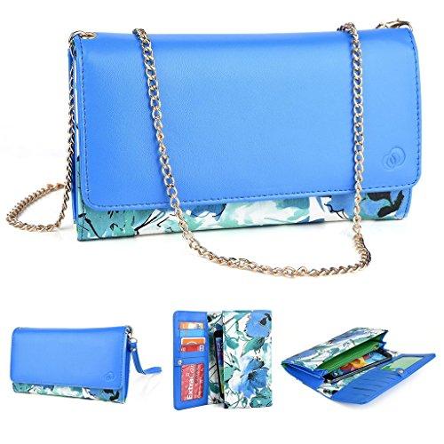 Kroo Pochette Crocodile pour portefeuille et étui pour Blu Life One/Studio 5.0C HD Multicolore - magenta Multicolore - vert