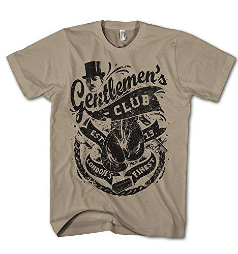 Herren T-Shirt Gentleman Boxing Club London Punk Old School - Retro-punk-rock-shirt