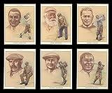 Golf Geschichte–Bobby Jones, Tom Morris Senior, Gene Sarazen, Walter Hagen, Harry Vardon und James Braid–Art (by Ana Lopes) Sammler Karten