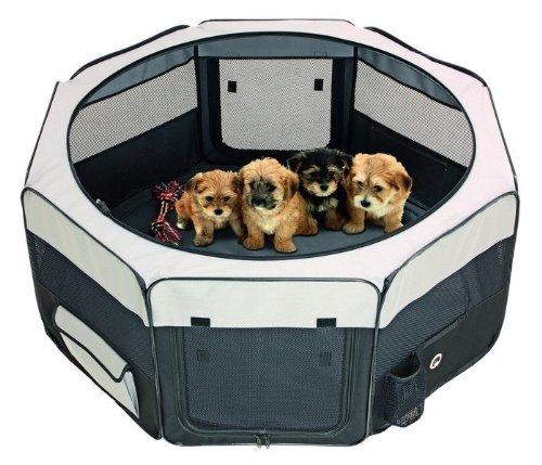 Welpengehege Welpenauslauf Freigehege Hunde Box Laufstall Welpenzaun Welpen Gitter Freilaufgehege Laufheck 112 cm