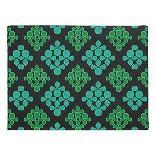 KliwKlol Lustige Fußmatte Haus Erwärmung Presents Rutschfest, grün türkis Blätter Gummi innen Boden Matte Maschinenwaschbar 60x 40cm -