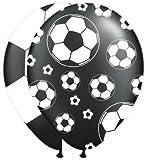 Folat FOL262057 Party Luftballons-Fußball, 2 x 8 Stück, Weiß/Schwarz, STK