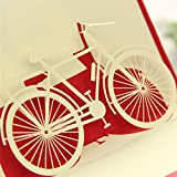 Dabixx Gute zum Geburtstag Valentinstag Ostern Geschenk Reise 3D Pop Up Karte Fahrrad 10x15 cm