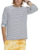 Scotch & Soda Herren Langarmshirts Classic Longsleeve Tee in Cotton/Elastane Quality with Yarn, Mehrfarbig (Combo D 220), Small