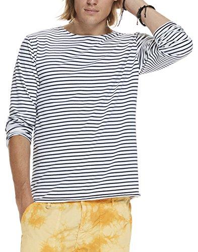 scotch-soda-herren-langarmshirts-classic-longsleeve-tee-in-cotton-elastane-quality-with-yarn-mehrfar