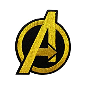 Cobra Tactical Solutions Avengers Embroidery Patch Gold with Hook & Loop for Cosplay/Airsoft / Paintball