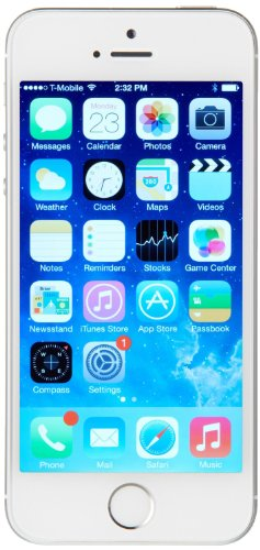 Apple iPhone 5S Smartphone (10,2 cm (4 Zoll) Retina Display, A7 Prozessor mit M7 Co-Prozessor, 8 Megapixel Kamera, 64GB interner Speicher, WiFi, 3,5mm Klinke, iOS 7) silber Smart Phone Apple Freigeschaltet