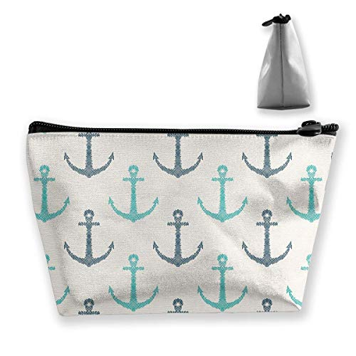 Line Art Hand Drawn Anchors Cosmetic Makeup Bag/Pouch/Clutch Travel Case Organizer Storage Bag for Women¡¯s Accessories Toiletry Beauty,Skincare Travel Accessory