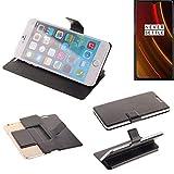 K-S-Trade Schutz Hülle für OnePlus 6T McLaren Edition Schutzhülle Flip Cover Handy Wallet Case Slim Handyhülle bookstyle schwarz