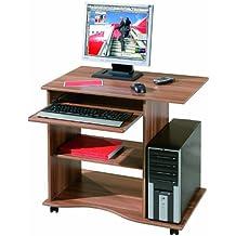 Links 17200030 Schreibtisch Büromöbel PC-Tisch Bürotisch Arbeitstisch Computertisch walnuss NEU