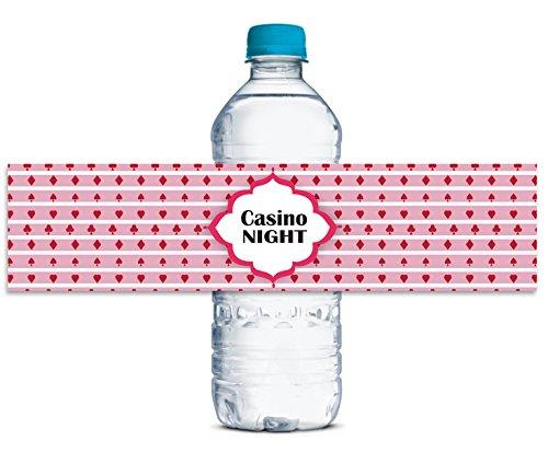 Casino-Nacht Aufkleber Wasserdicht Wasserflaschenaufkleber Selbstklebende Partei Thema 8