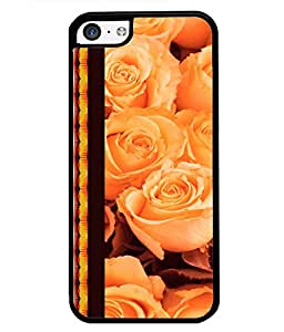 Fuson 2D Printed Flower Designer back case cover for Apple iPhone 5C - D4325