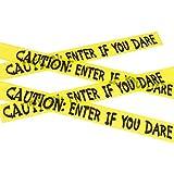 Cinta de Señalización Zombi - 6 m | Cinta de Advertencia Halloween | Cinta para Acordonar Muerto Viviente | Cordón Policial Fiesta de Terror