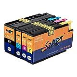 Start - 4 XL Ersatz Druckerpatronen kompatibel zu HP 950XL / HP 951XL Schwarz, Cyan, Magenta, Gelb für Hewlett Packard OfficeJet Pro 8100 8600 8600 Plus 8610 8615 8620 8625 8630 8640 8660 251dw 276dw