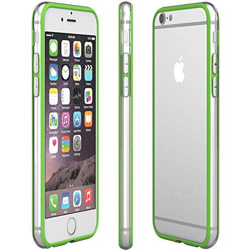 iPhone 8+ Hülle / iPhone 7+ Hülle - EAZY CASE Silikon Bumper für Apple iPhone 7 Plus & iPhone 8 Plus - Flexible Schutzhülle als Rahmenschutz in Weiß Grün