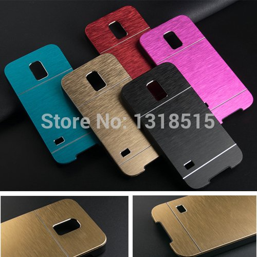 Metal Lined SPower Series Aluminium Hard Back Case Cover For Samsung Galaxy S5 Colour – Green