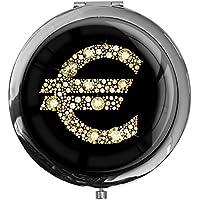 """metALUm - Extragroße Pillendose in runder Form""""Eurozeichen in Gold"""" preisvergleich bei billige-tabletten.eu"""