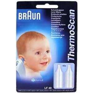 Braun - 6005792 - Beauté Santé - Embout Jetable pour Thermomètre Auriculaire - X40