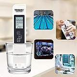 Litthing 3 en 1 Medidor de Prueba de Calidad del Agua Medidor TDS EC Pluma de Prueba de Temperatura con Pantalla LCD para Agu