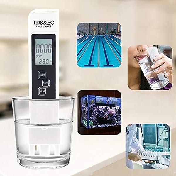 Litthing Wasserqualitätstest Meter Tds Ec Temperatur 3 In 1 Wasser Tester Mit Lcd Display Für Hydrokultur Aquarien Trinkwasser Fischteich Und Schwimmbad Garten