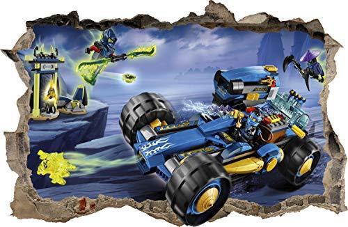 ARTWALL WANDAUFKLEBER Loch in der Wand 3D Legos Ninjago Wand Aufkleber Wandtattoo 85 (S -50 x 32 cm)