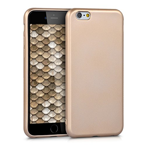 e 6 / 6S Hülle - Handyhülle für Apple iPhone 6 / 6S - Handy Case in Metallic Gold ()