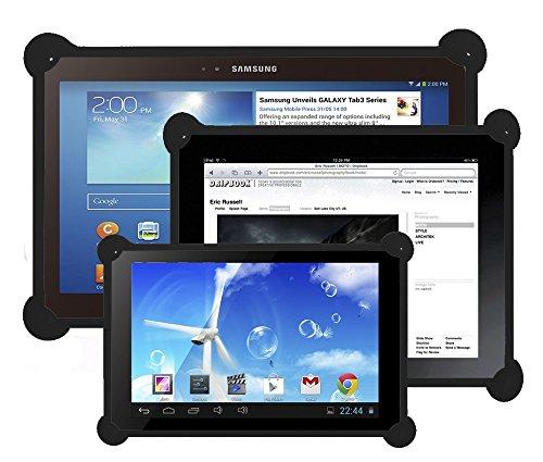 Funda tablet silicona universal compatible con cualquier tamaño de tablet carcasa tablet silicona funda silicona tablet válida para todos los tamaños de tablets pc del mercado negra