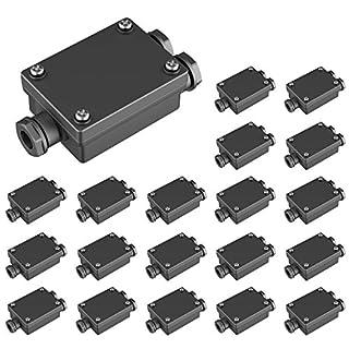 parlat Kabel-Verbinder 2-fach für außen, Muffe für 6-8mm Kabel IP68, 20 Stk.
