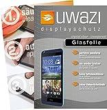 uwazi HTC Desire 626G Semi Glasfolie - gehärtete Schutzfolie mit Spezialbeschichtung gegen Fingerabdrücke