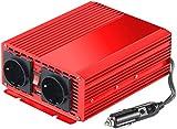reVolt Sinus Wechselrichter: Kfz-Spannungswandler 700 W, 2X 230 V AC, 5 V USB, Peak 1400 W (Wechselrichter 12V 230v)
