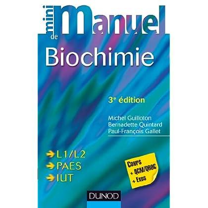 Mini Manuel de Biochimie - 3e édition : Cours + QCM/QROC + exos (Sciences de la Vie)