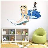 azutura Alice im Wunderland Wandtattoo Märchen Wand Sticker Mädchen Schlafzimmer Wohnkultur Erhältlich in 8 Größen Riesig Digital