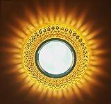 Chandelier LED Crystal Spot Light Deckenleuchte Embedded Wohnzimmer Deckenfarbe 3W Rindergang Wandbekleidung Down Light, 3