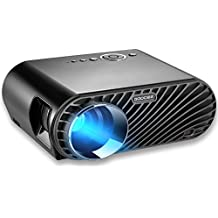 "GooDee 3200 Lumens Effizienz Beamer 1280x800 Native Auflösung LCD Max 180"" Video Projektor mit HDMI Unterstützt 1080P HDMI VGA AV USB Heimkino Projektor für PC iPad iphone TV Laptop Videospiele"