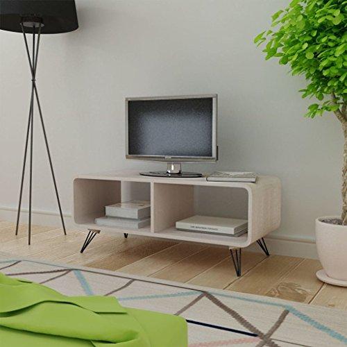Tidyard Mesa para TV Mesa de Centro Mesa de Café Mueble TV Salón ...