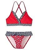 Schiesser Mädchen Bikini UV Schutz 40+ 145615, Gr. 128, Rot (rot 500)