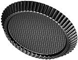 Zenker Stampo Crostata a Nido d'Ape ø28cm, Black Metallic, Rivestimento Antiaderente (Colore: Nero Metallizzato), quantità: 1 Pezzo, Acciaio