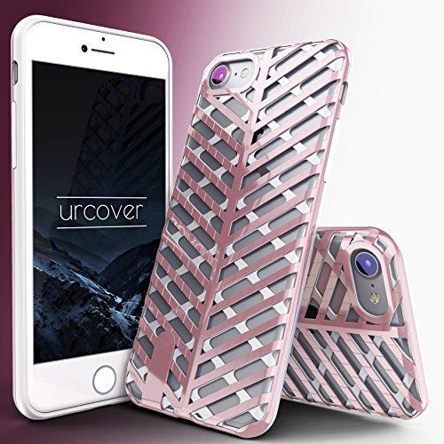 Urcover® Apple iPhone 7 / 8 Schutzhülle Sword Series Back-Cas Cover Gitter Schale Smartphone Schwarz / Schwarz Weiß / Rosa