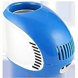 Unbekannt 0.35L Kleines Zuhause Getränk Minikühlschrank USB-Ladevorgang Auto Kühlschrank Herberge Kühlschrank 17 * 10.6 * 13cm - Gelb/Weinrot/Orange/Blau (Farbe : Blau)