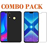 ADRY Tempered Glass & Pudding Back Cover_Combo Pack_ Premium Quality Screen Guard And Soft Case Cover For Huawei Honor 8X