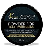 FINECARE Activated Charcoal Teeth Whitening Powder 50grm I Enamel Safe Teeth Whitener |