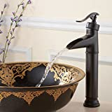 Maifeini _ rame bronzo scuro bagno lavabo rubinetto lavabo nero bronzo rubinetto cascata high-water rubinetto