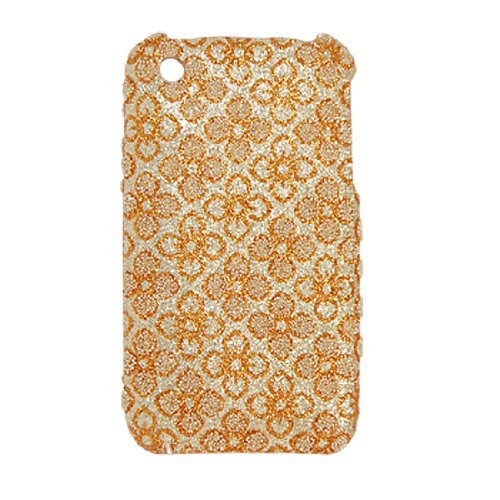 DealMux Glittery Gold Tone Flower Antislip Terug Case voor iPhone 3G