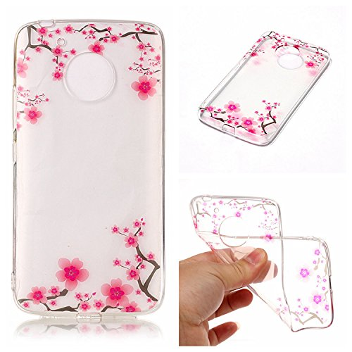 Preisvergleich Produktbild Moto G5 Klar Hülle,Moto G5 3D Kreative Silikon Hülle Tasche Handyhülle,Ultra Slim Soft Licht Klar Transparent Silikon Gel Gomma TPU Hülle Case für Moto G5 with 5,0 Zoll,Romantic Flower Animal Cartoon TPU Silikon Schutz Handy Hülle Case Tasche Etui Bumper für Moto G5
