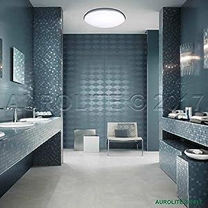AUROLITE LED 12W IP44 Ceiling Lights, Ø 26cm, 950LM, Lighting for Bathroom, Kitchen, Hallway, Office, Corridor, Flush Ceiling Light, Bath Ceiling Light, High Quality, 1 Year Warranty by AUROLITE